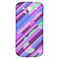 Pink, purple and green pattern Samsung Galaxy S3 S III Classic Hardshell Back Case