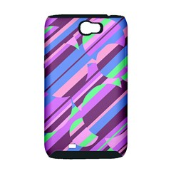Pink, purple and green pattern Samsung Galaxy Note 2 Hardshell Case (PC+Silicone)
