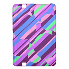 Pink, purple and green pattern Kindle Fire HD 8.9