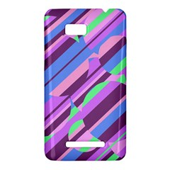 Pink, purple and green pattern HTC One SU T528W Hardshell Case