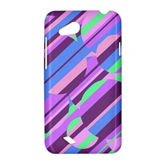 Pink, purple and green pattern HTC Desire VC (T328D) Hardshell Case