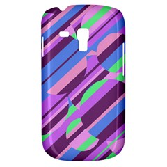 Pink, purple and green pattern Samsung Galaxy S3 MINI I8190 Hardshell Case