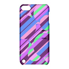 Pink, purple and green pattern Apple iPod Touch 5 Hardshell Case with Stand