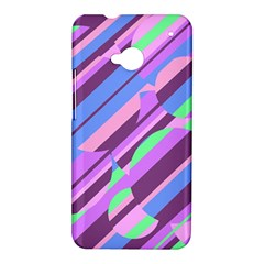 Pink, purple and green pattern HTC One M7 Hardshell Case