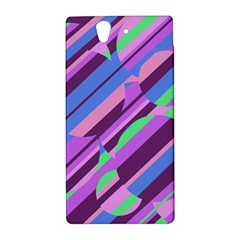 Pink, purple and green pattern Sony Xperia Z