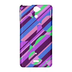 Pink, purple and green pattern Sony Xperia V