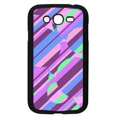 Pink, purple and green pattern Samsung Galaxy Grand DUOS I9082 Case (Black)
