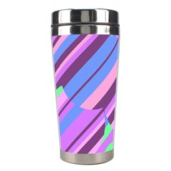 Pink, purple and green pattern Stainless Steel Travel Tumblers