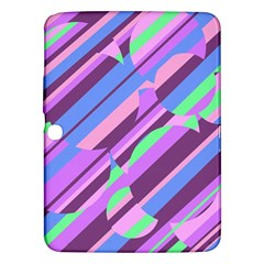 Pink, purple and green pattern Samsung Galaxy Tab 3 (10.1 ) P5200 Hardshell Case