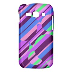 Pink, purple and green pattern Samsung Galaxy Ace 3 S7272 Hardshell Case