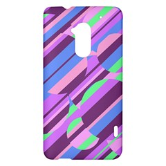 Pink, purple and green pattern HTC One Max (T6) Hardshell Case