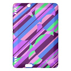 Pink, purple and green pattern Kindle Fire HDX Hardshell Case