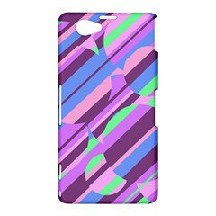 Pink, purple and green pattern Sony Xperia Z1 Compact