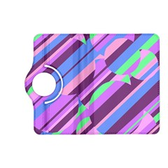 Pink, purple and green pattern Kindle Fire HD (2013) Flip 360 Case