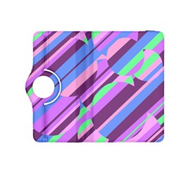 Pink, purple and green pattern Kindle Fire HDX 8.9  Flip 360 Case