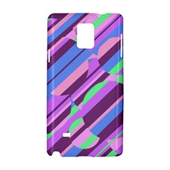 Pink, purple and green pattern Samsung Galaxy Note 4 Hardshell Case