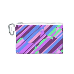 Pink, purple and green pattern Canvas Cosmetic Bag (S)