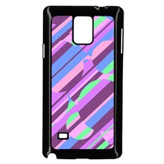 Pink, purple and green pattern Samsung Galaxy Note 4 Case (Black)