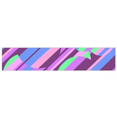 Pink, purple and green pattern Flano Scarf (Small)