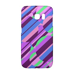 Pink, purple and green pattern Galaxy S6 Edge