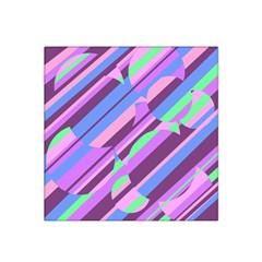 Pink, purple and green pattern Satin Bandana Scarf