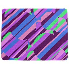 Pink, purple and green pattern Jigsaw Puzzle Photo Stand (Rectangular)
