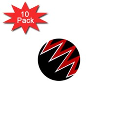 Black and red simple design 1  Mini Magnet (10 pack)