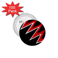 Black and red simple design 1.75  Buttons (100 pack)