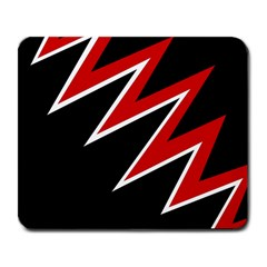 Black and red simple design Large Mousepads