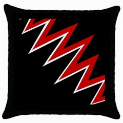 Black and red simple design Throw Pillow Case (Black)