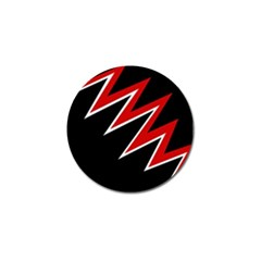 Black and red simple design Golf Ball Marker (10 pack)