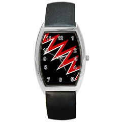 Black and red simple design Barrel Style Metal Watch
