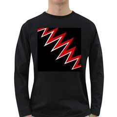 Black and red simple design Long Sleeve Dark T-Shirts