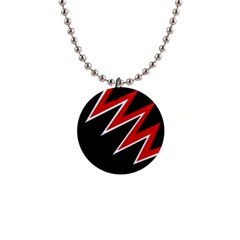 Black and red simple design Button Necklaces