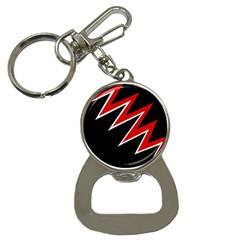 Black and red simple design Bottle Opener Key Chains