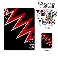 Black and red simple design Playing Cards 54 Designs