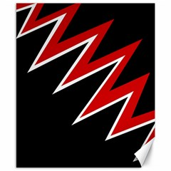 Black and red simple design Canvas 8  x 10