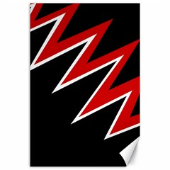 Black and red simple design Canvas 24  x 36