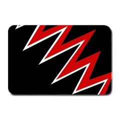 Black and red simple design Plate Mats