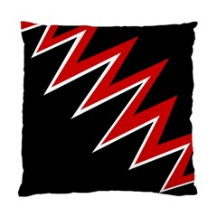 Black and red simple design Standard Cushion Case (One Side)