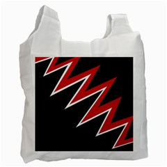 Black and red simple design Recycle Bag (One Side)