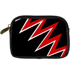 Black and red simple design Digital Camera Cases