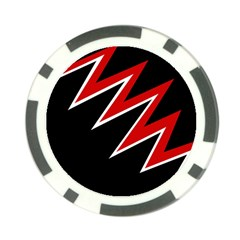 Black and red simple design Poker Chip Card Guards (10 pack)