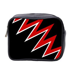 Black and red simple design Mini Toiletries Bag 2-Side
