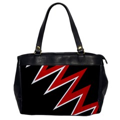 Black and red simple design Office Handbags