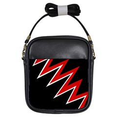 Black and red simple design Girls Sling Bags