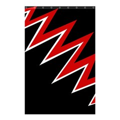 Black and red simple design Shower Curtain 48  x 72  (Small)