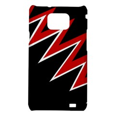 Black and red simple design Samsung Galaxy S2 i9100 Hardshell Case