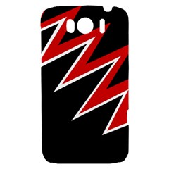 Black and red simple design HTC Sensation XL Hardshell Case