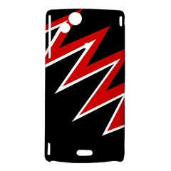 Black and red simple design Sony Xperia Arc